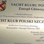 List gratulacyjny od ZG YKP