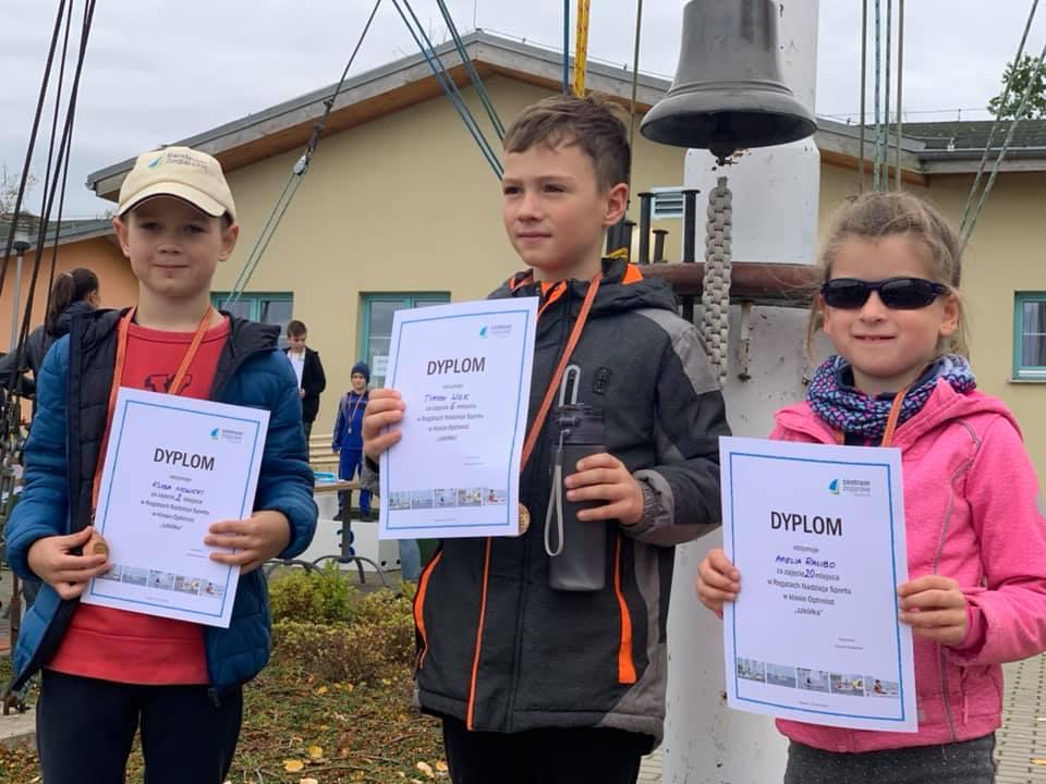 Debiut naszych młodych żeglarzy na Regatach Nadzieja Sportu 2019